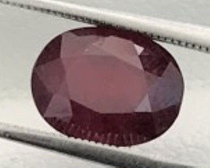3.16ct Dark Blood Red Shiny African Ruby - Beauty B250 F75