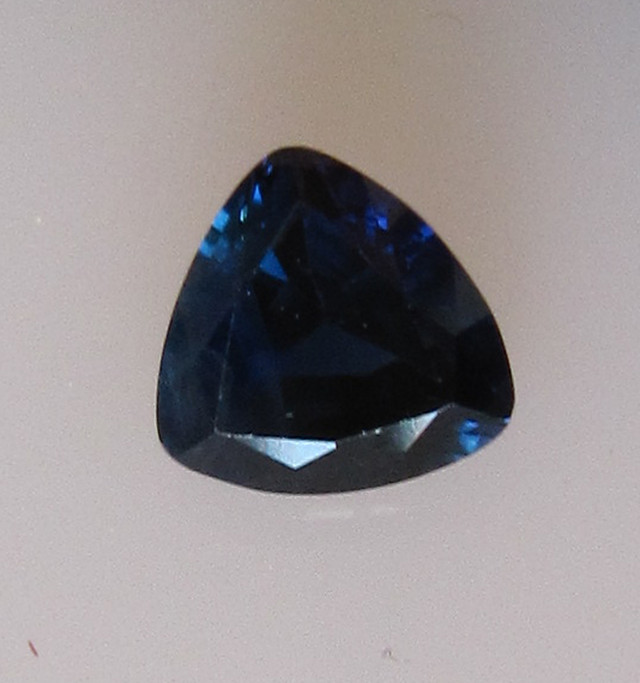 0.72cts Natural Australian Trillion Cut Blue Sapphire
