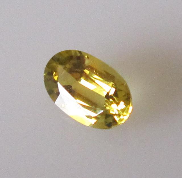 0.58cts AUSTRALIAN GOLD PARTI SAPPHIRE OVAL