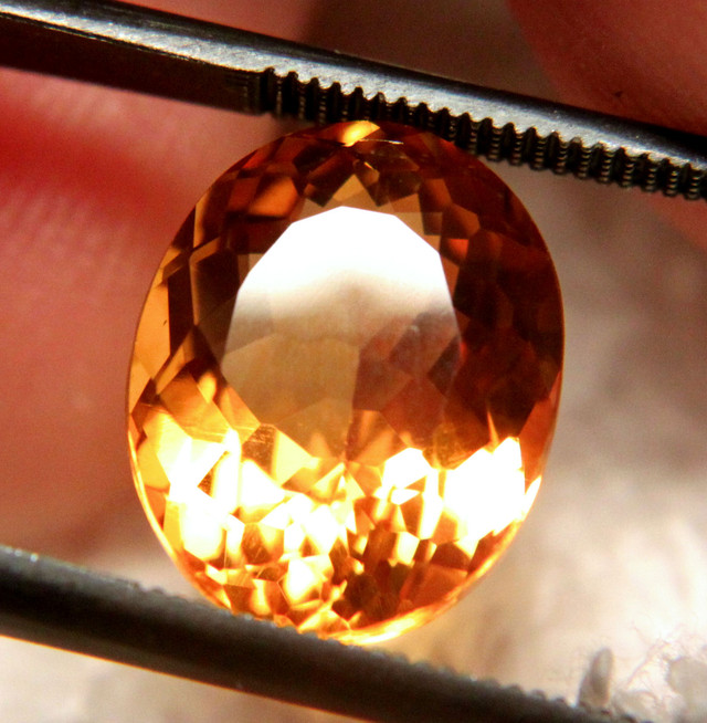 5.39 Carat Flashy, 100% Natural Brazil Citrine - Superb