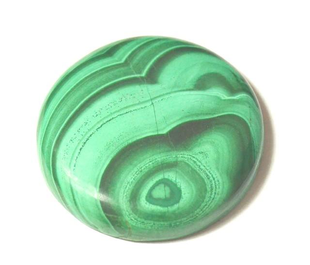 AAA MUSEUM GRADE 40mm 126ct Malachite round green cabochon