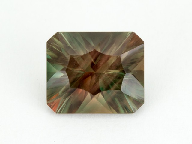 5.8ct Green Concave Rectangle Sunstone (S1863)