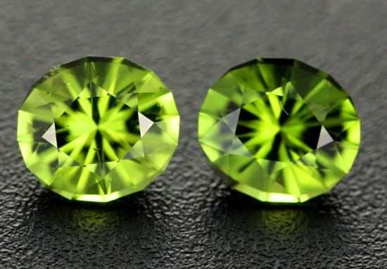 2.03 cts VVS Green Kenyan Tourmaline Pair - Stunning (RTO64)