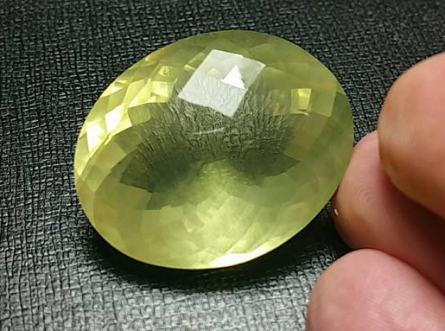 80ct 32mm Lemon Citrine or Lemon Quartz also called Gold Green