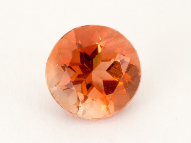 1ct Oregon Sunstone, Peach/Red Round (S1818)