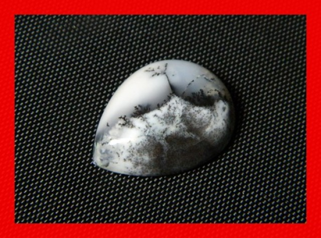 20x15mm 13cts Natural Dendritic Agate Cab Stone Y94