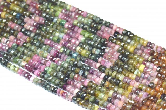 "NEW  6mm 7mm 14"" line Watermelon Tourmaline beads. TOU001"