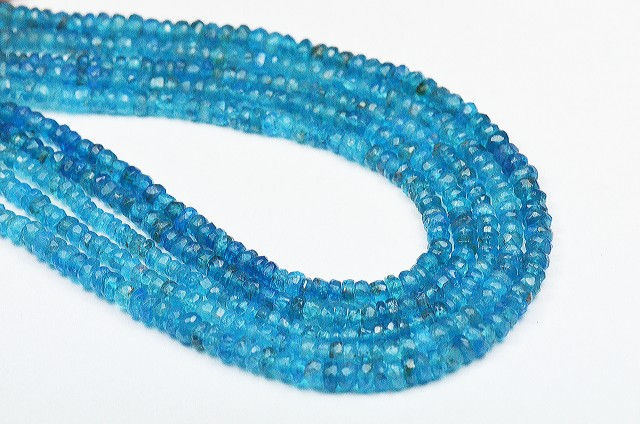 NEW  Neon Apatite 3mm 16in line untreated faceted beads AP016