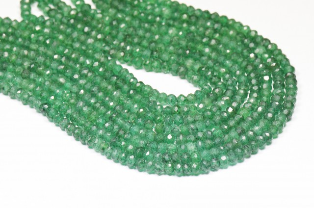 "AVENTURINE 14"" faceted beads AV001  Natural & untreated"