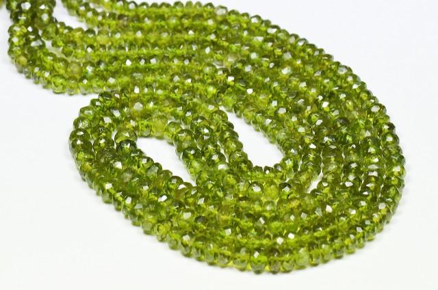 4mm - 5mm VESUVIANITE or IDOCRASE beads 15