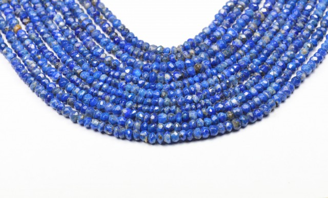 3mm Lapis Lazuli beads faceted 13.5