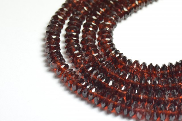 "Sale 4-7mm AAA 8"" Mozambique Garnet beads GRZ001"