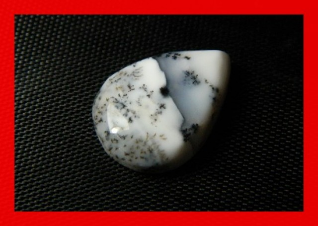 18x13mm 7cts Natural Dendritic Agate Cab Stone Y40