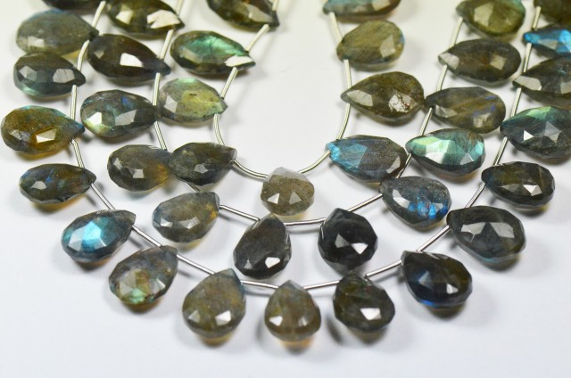 NEW  13 - 15mm 20 labradorite briolettes drop shape LABB004