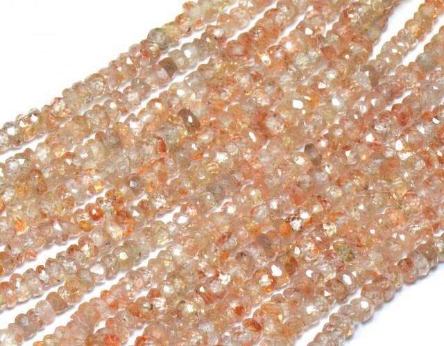 """NEW ITEM   3mm 13.5"""" A Grade Zircon faceted beads Zir004"""