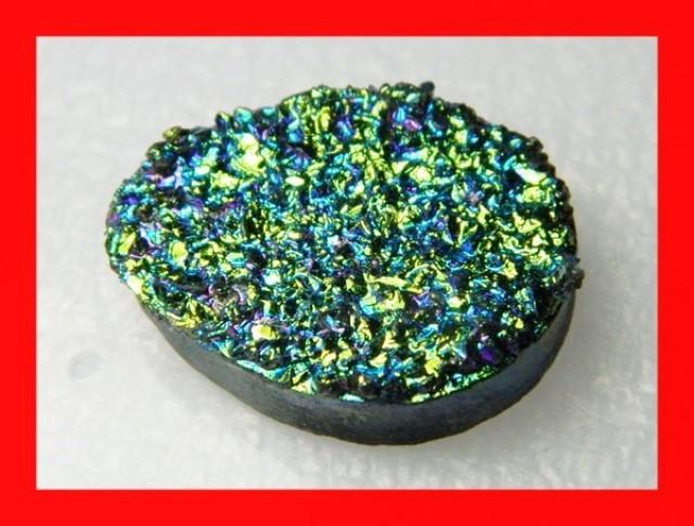 38cts Natural Titanium Druzy Cab Stone Z872