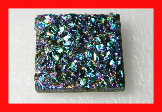 49cts Natural Titanium Druzy Cab Stone Z878