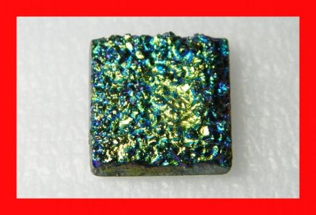27cts Natural Titanium Druzy Cab Stone Z879