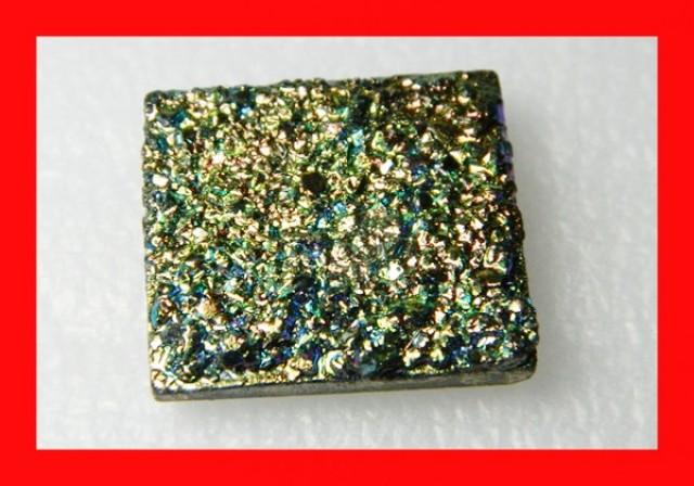 46cts Natural Titanium Druzy Cab Stone Z882