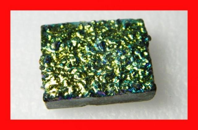 49cts Natural Titanium Druzy Cab Stone Z884