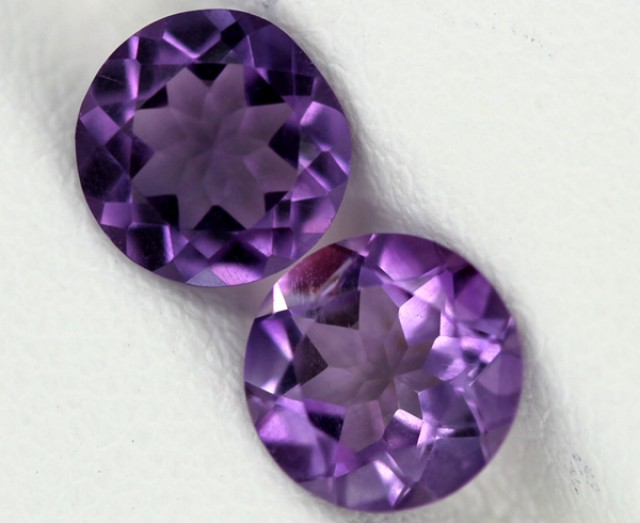 AMETHYST FACETED STONE 2.10  CTS2PCS 8X8 CG-28