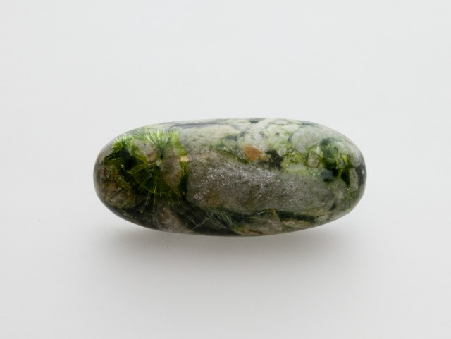 49.4ct Polished Wavellite, Mixed Green Cabochon (WL05)