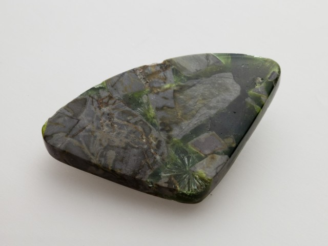 47.7ct Polished Wavellite, Emerald Green Fan (WL15)