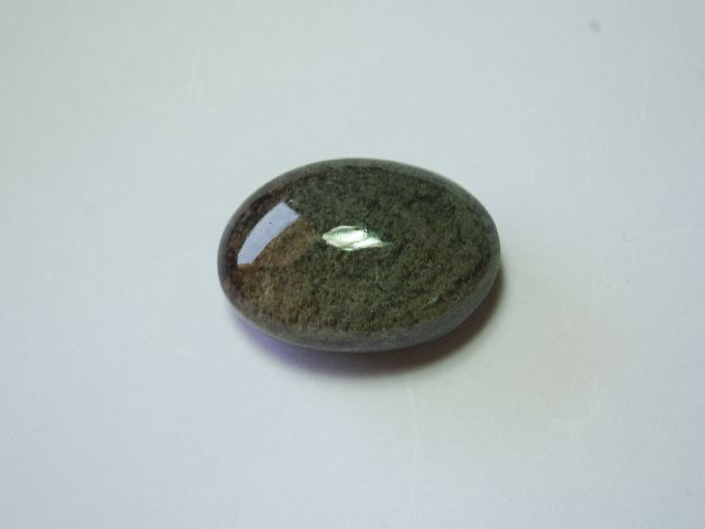 67 carat STUNNING CHLORITE IN QUARTZ SCENIC CABOCHON