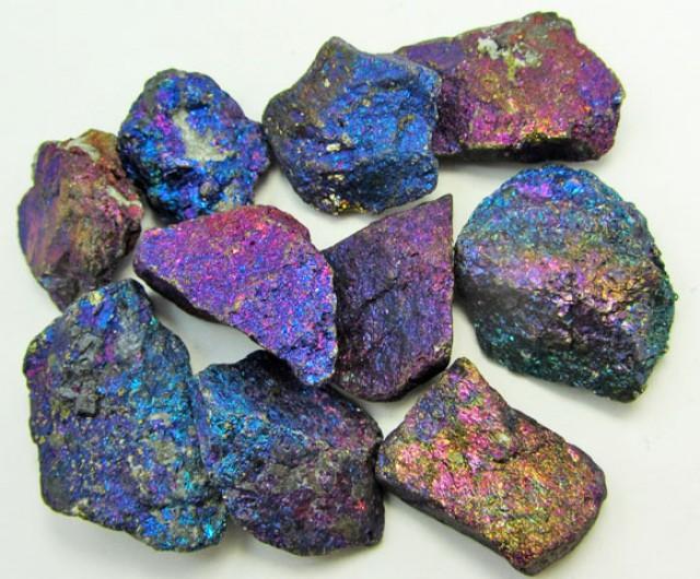 100 GRAMS  CHALCOPYRITE (PEACOCK ORE)    GG 1244