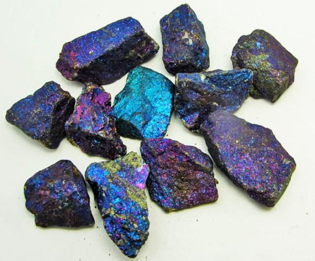 100 GRAMS  CHALCOPYRITE (PEACOCK ORE)    GG 1245