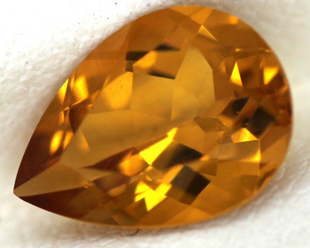 CITRINE NATURAL FACETED 1.35 CTS CG-52