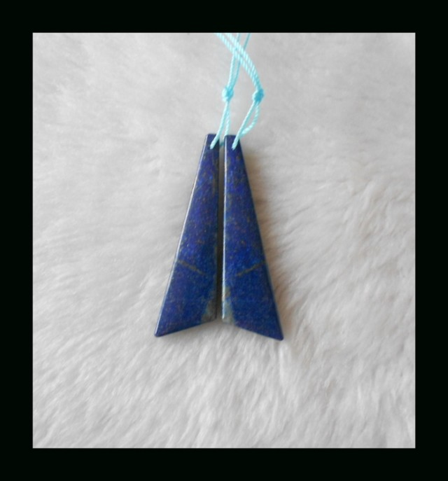 Lapis Lazuli Earring Beads,49x13x4mm,9.56g