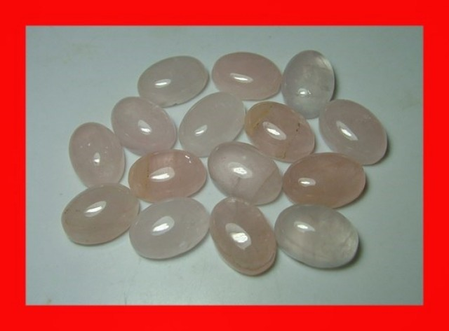 15pcs cts 14x10mm Natural Rose Quartz Cabs Z985