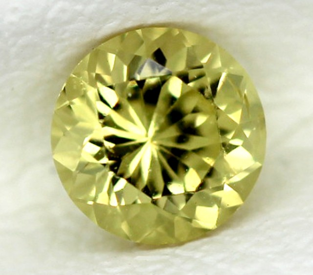 CERTIFIED YELLOW SAPPHIRE UNTREATED 0.54  CTS  TBM-104