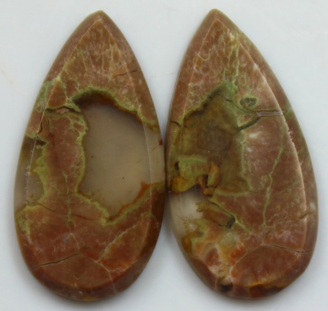 13.05 CTS AGATE PAIR POLISHED STONES GREAT RANGE IN STORE