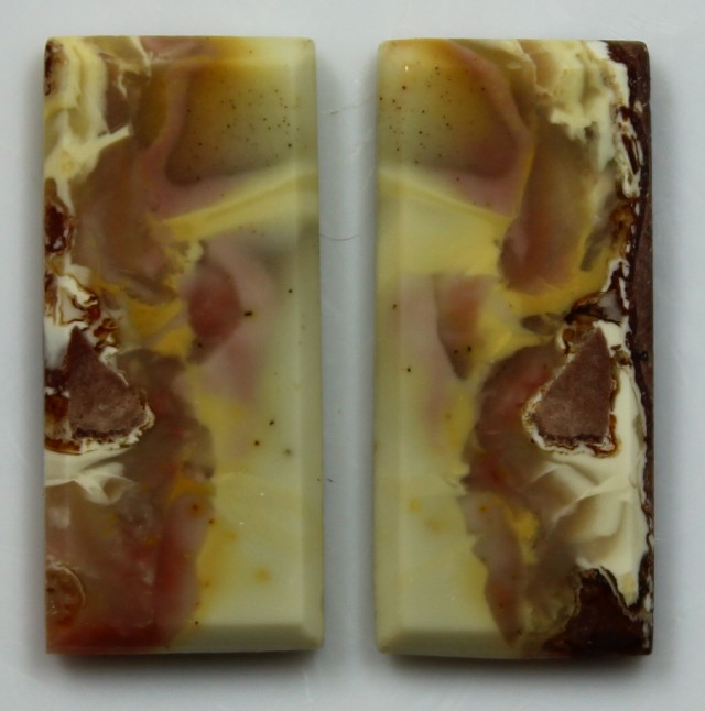 14.25 CTS JASPER PAIR POLISHED STONES GREAT RANGE IN STORE