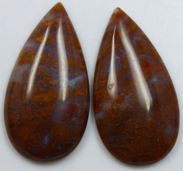 36.20 CTS JASPER PAIR POLISHED STONES GREAT RANGE IN STORE