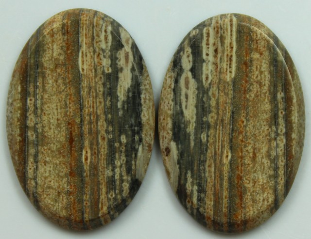 35.65 CTS JASPER PAIR POLISHED STONES GREAT RANGE IN STORE