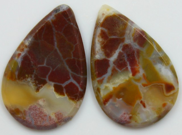 11.90 CTS JASPER PAIR POLISHED STONES GREAT RANGE IN STORE