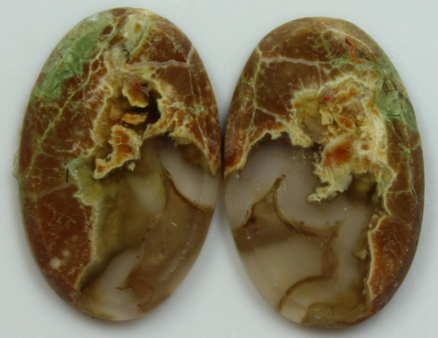 16.55 CTS AGATE PAIR POLISHED STONES GREAT RANGE IN STORE