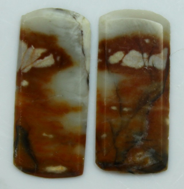 5.45 CTS JASPER PAIR POLISHED STONES GREAT RANGE IN STORE