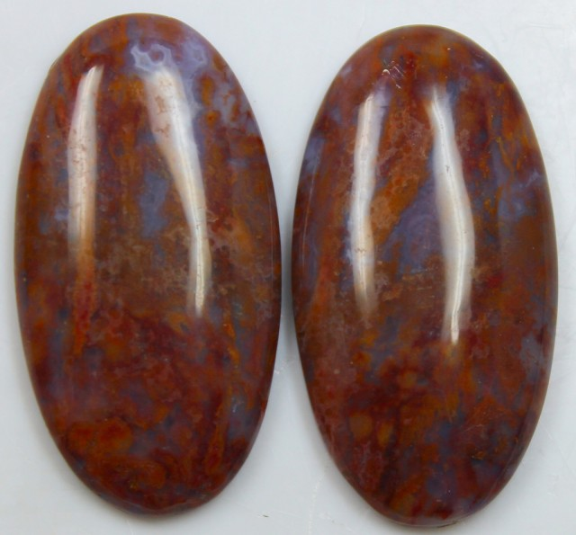 41.90 CTS JASPER PAIR POLISHED STONES GREAT RANGE IN STORE
