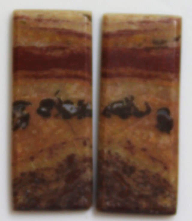 17.15 CTS JASPER PAIR POLISHED STONES GREAT RANGE IN STORE