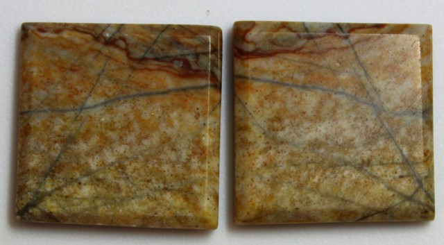 30.25 CTS JASPER PAIR POLISHED STONES GREAT RANGE IN STORE