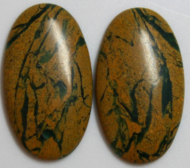 30.80 CTS JASPER PAIR POLISHED STONES GREAT RANGE IN STORE