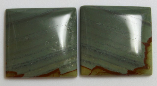 30.10 CTS JASPER PAIR POLISHED STONES GREAT RANGE IN STORE
