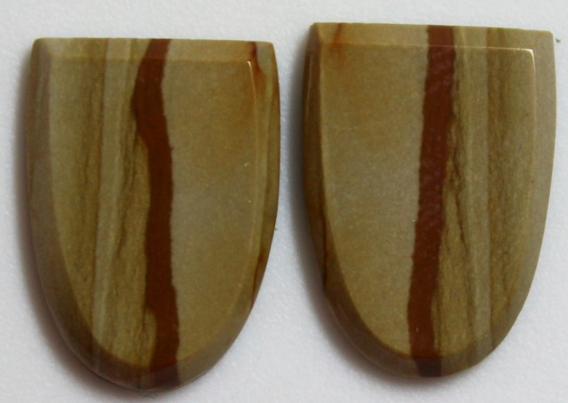 14.30 CTS JASPER PAIR POLISHED STONES GREAT RANGE IN STORE
