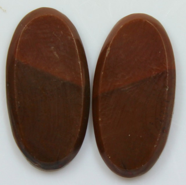 16.40 CTS JASPER PAIR POLISHED STONES GREAT RANGE IN STORE
