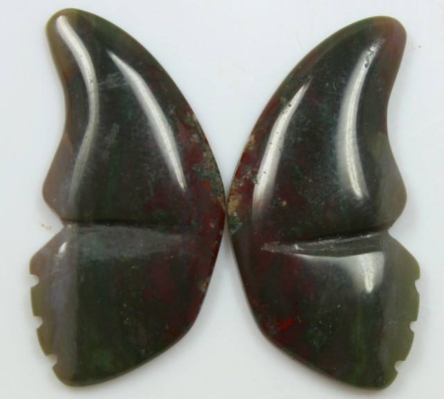 32.10 CTS JASPER PAIR POLISHED STONES GREAT RANGE IN STORE