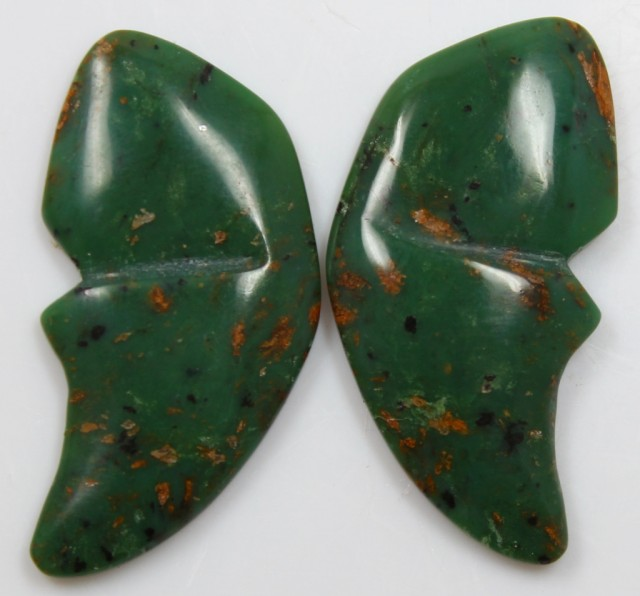 33.80 CTS JASPER PAIR POLISHED STONES GREAT RANGE IN STORE